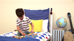 Animation of a little boy playing alone Animation