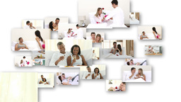 Isolated couples in love having fun together Stock Video Footage