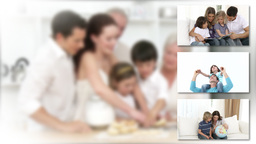 Joyful family preapring a meal Animation