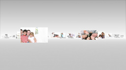 Montage of astonished families Animation