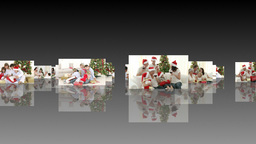 Animation of multiple families celebrating christm Animation