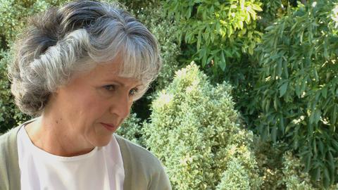 Worried old woman Footage