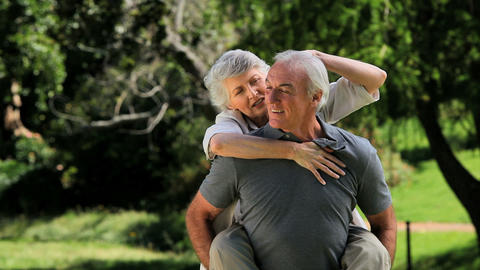 Elderly couple enjoying a moment together Footage