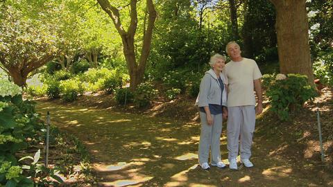 Elderly couple walking Footage