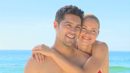 Loving couple embracing and posing Footage