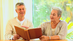 Mature Couple Share Memories stock footage