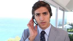 A businessman making an announcement Footage
