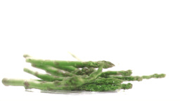 Asparagus falling in super slow motion Live Action