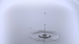 Drop of water falling in super slow motion Footage