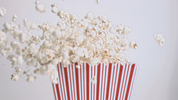 Popcorn falling in super slow motion Live Action