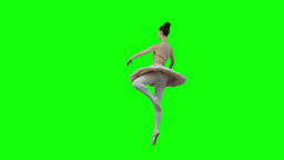 Brunette in slow motion dancing a classical ballet Footage