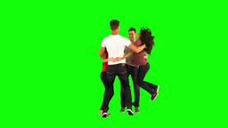 Teenagers jumping together in slow motion Footage