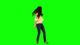 Brunette woman dancing in slow motion Footage