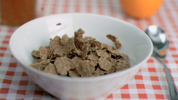 Cereals poured in super slow motion Footage