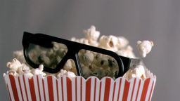 3D glasses falling in super slow motion Footage