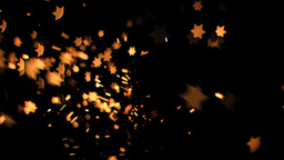 Sixpointed stars flowing in super slow motion Footage
