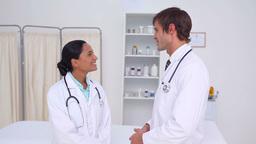 Doctors shaking hands Footage