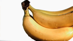 Delightful bananas in super slow motion receiving  Footage