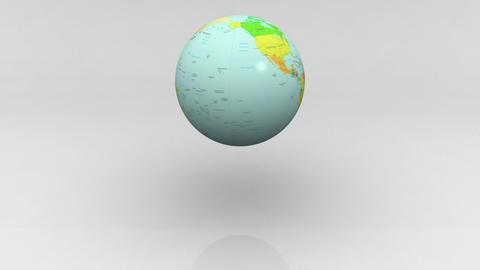 Earth splash Stock Video Footage