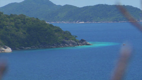Similan Islands Thailand top view over islands Footage