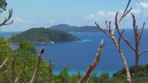 Similan Islands Thailand top view over islands Stock Video Footage
