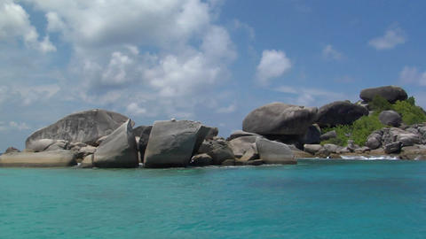 Similan Islands rocks Thailand Stock Video Footage