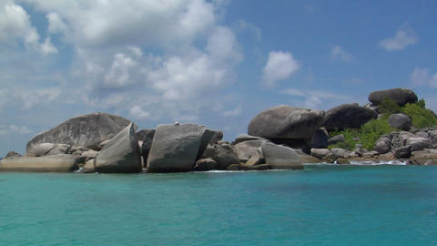 Similan Islands rocks Thailand Footage