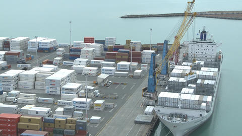 container loading time lapse Stock Video Footage
