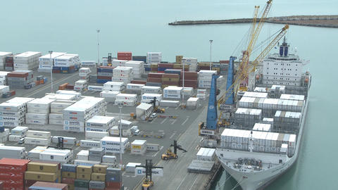 container loading time lapse Footage