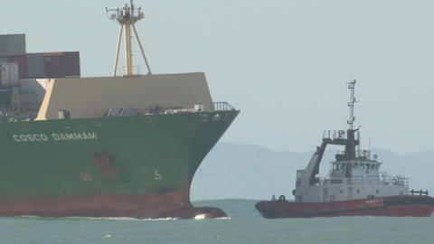 container ship side swell Stock Video Footage