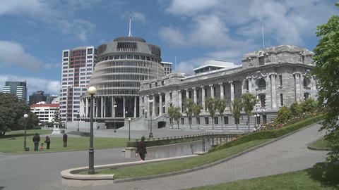 Parliament Buildings New Zealand stock footage