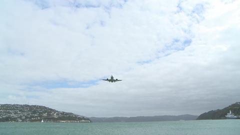 jet wide shot across water Footage