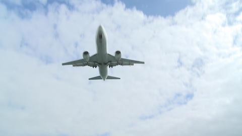 jet wide shot across water Stock Video Footage