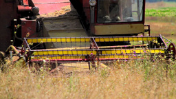 Combine Harvesting Stock Video Footage