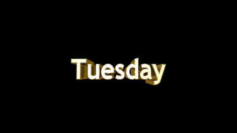 Day 03 Tuesday HD Stock Video Footage