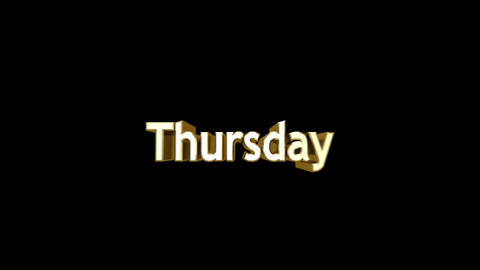 Day 05 Thursday HD Stock Video Footage