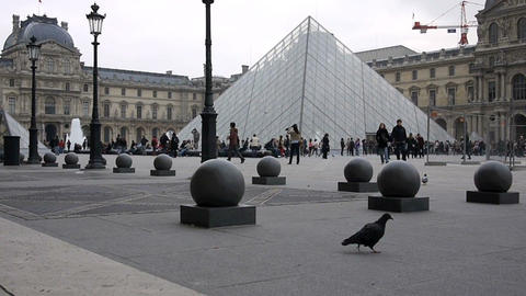 Louvre Stock Video Footage