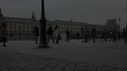Tourists in Paris Stock Video Footage