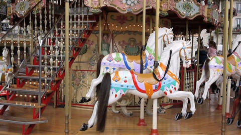Carousel in Paris Stock Video Footage