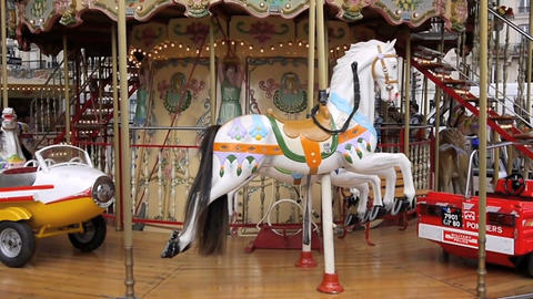 Carousel in Paris Stock Video Footage