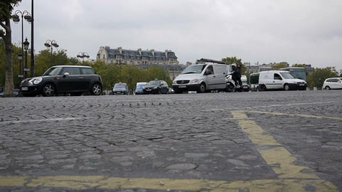 Paris traffic 11 Stock Video Footage