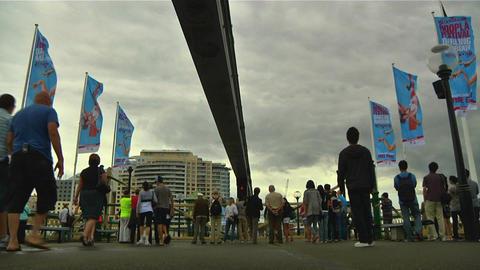 Darling Harbour Entrance Sydney Footage