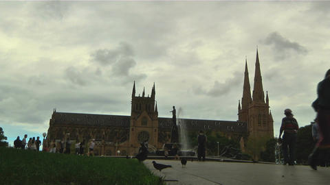 Sydney Cathedral Stock Video Footage