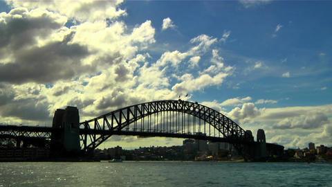 Sydney Harbour Bridge 01 Stock Video Footage
