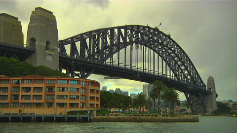 Sydney Harbour Bridge 07 Stock Video Footage