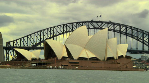 Sydney Harbour Bridge and Opera House 02 Footage