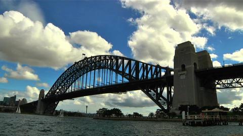Sydney Harbour Bridge Timelapse Stock Video Footage