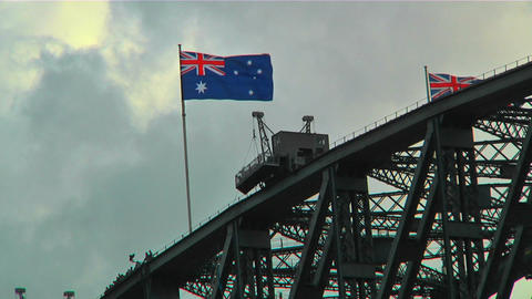 Sydney Harbour Bridge Top 02 Stock Video Footage