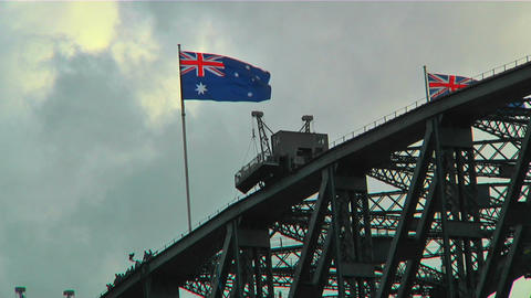 Sydney Harbour Bridge Top 02 Footage