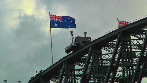 Sydney Harbour Bridge Top 02 Stock Video Footage